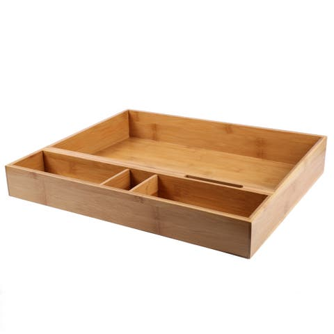 Creative Home Bamboo Multipurpose Organizer Tray