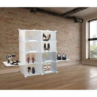 Link to Organized Compartment Shoe Rack PE Plastic in White Similar Items in Laundry