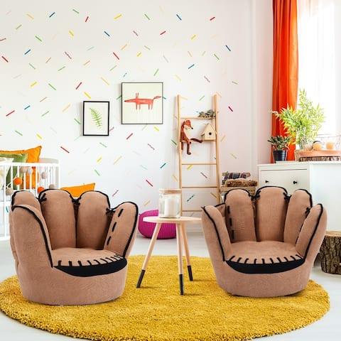 Kids Armrest Sofa Five Finger Children Leisure Upholstered Chair