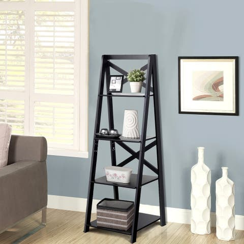 Porch & Den Strickland 4-Tier X-accent Ladder Storage Shelf
