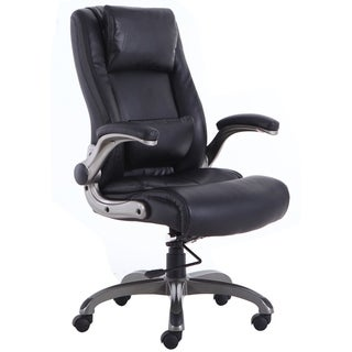 High Back Executive Office Chair Slideable Headrest Lumbar Support Leather Computer Desk Chair Swivel