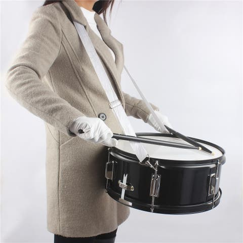 14 x 5.5 inches Marching Snare Drum & Drum Stick & Strap & Wrench Kit