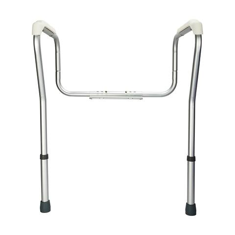 Stand Alone Toilet Safety Grab Rail Silver