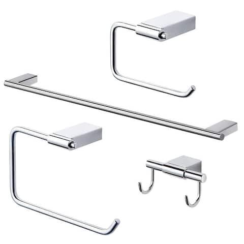 """Transolid Maddox KA-MDX-4-PC 4-Piece Bathroom Accessory Kit - 2.88"""" x 25.91"""" x 0.73"""""""