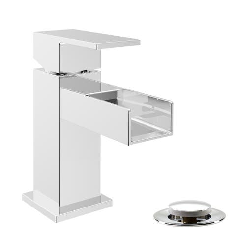 Belanger QUA32CCP Single Handle Bathroom Faucet with Presto Pop-Up Drain, Chrome