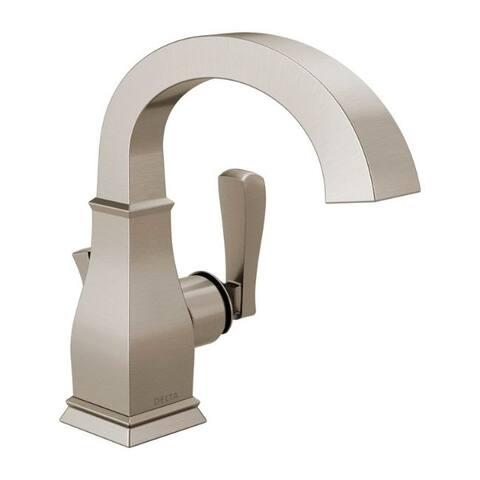 Delta Lakewood Spotshield Brushed Nickel Single Handle Lavatory Faucet 2 in.