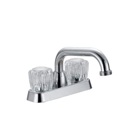 LDR Laundry Two Handle Chrome Faucet
