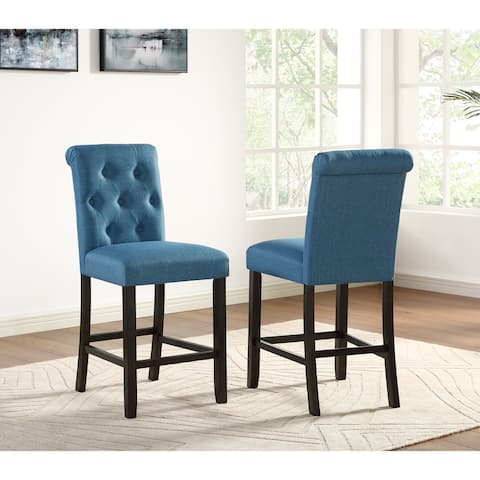 Copper Grove Solitude Tufted Armless Dining Chairs (Set of 2)