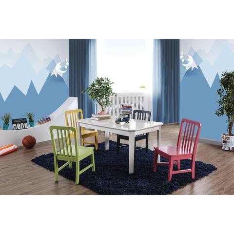 Furniture of America Evella Contemporary 5-Piece Kids Table Set