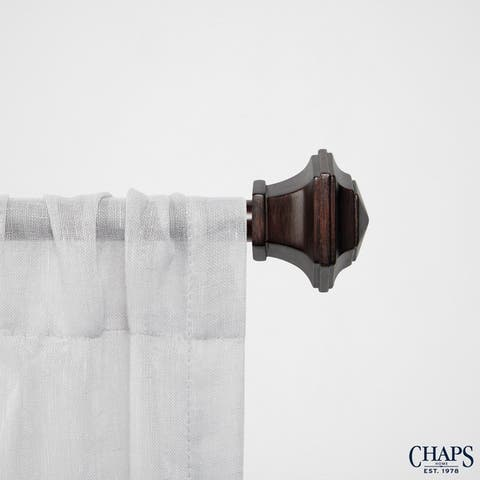 "Chaps Home Urn 3/4"" Diameter Window Curtain Rod and Finial Set"