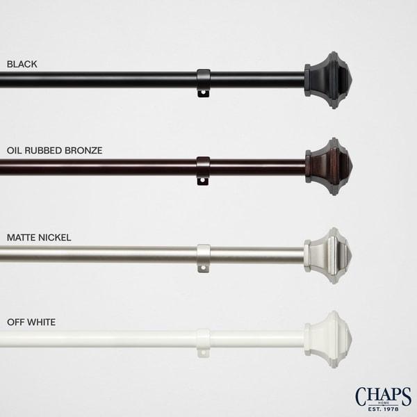 "66-120 Chaps Urn /¾/"" Diameter Window Curtain Rod and Finial Set Matte Nickel"