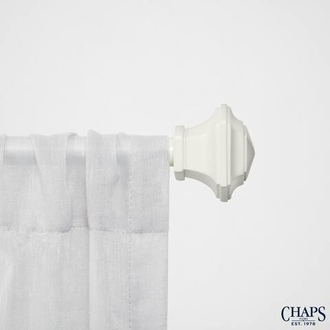 """Chaps Home Urn 3/4"""" Diameter Window Curtain Rod and Finial Set"""