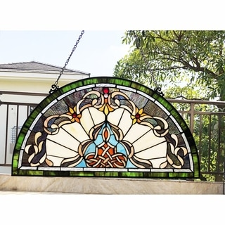 Gracewood Hollow Delapaz Half-circle Glass Window Panel/Suncatcher