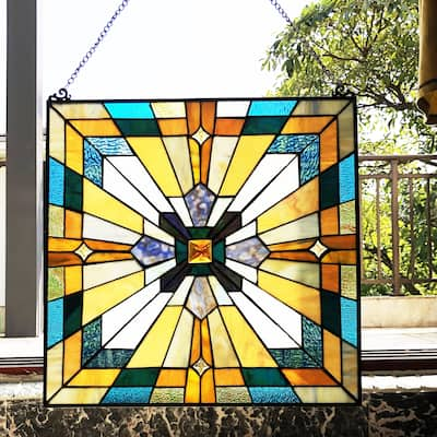 Gracewood Hollow Cao Mission-style Glass Window Panel/Suncatcher