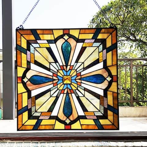Gracewood Hollow Carunungan Mission-style Glass Window Panel/Suncatcher