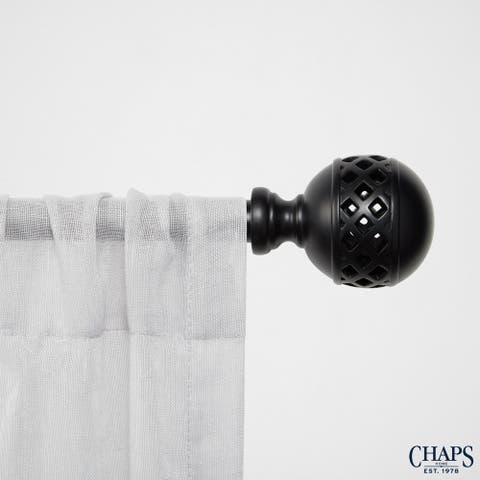 "Chaps Home Lattice 3/4"" Diameter Window Curtain Rod and Finial Set"