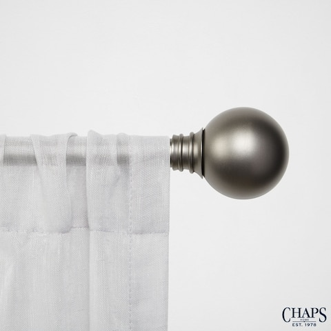 "Chaps Home Ball 3/4"" Diameter Window Curtain Rod and Finial Set"