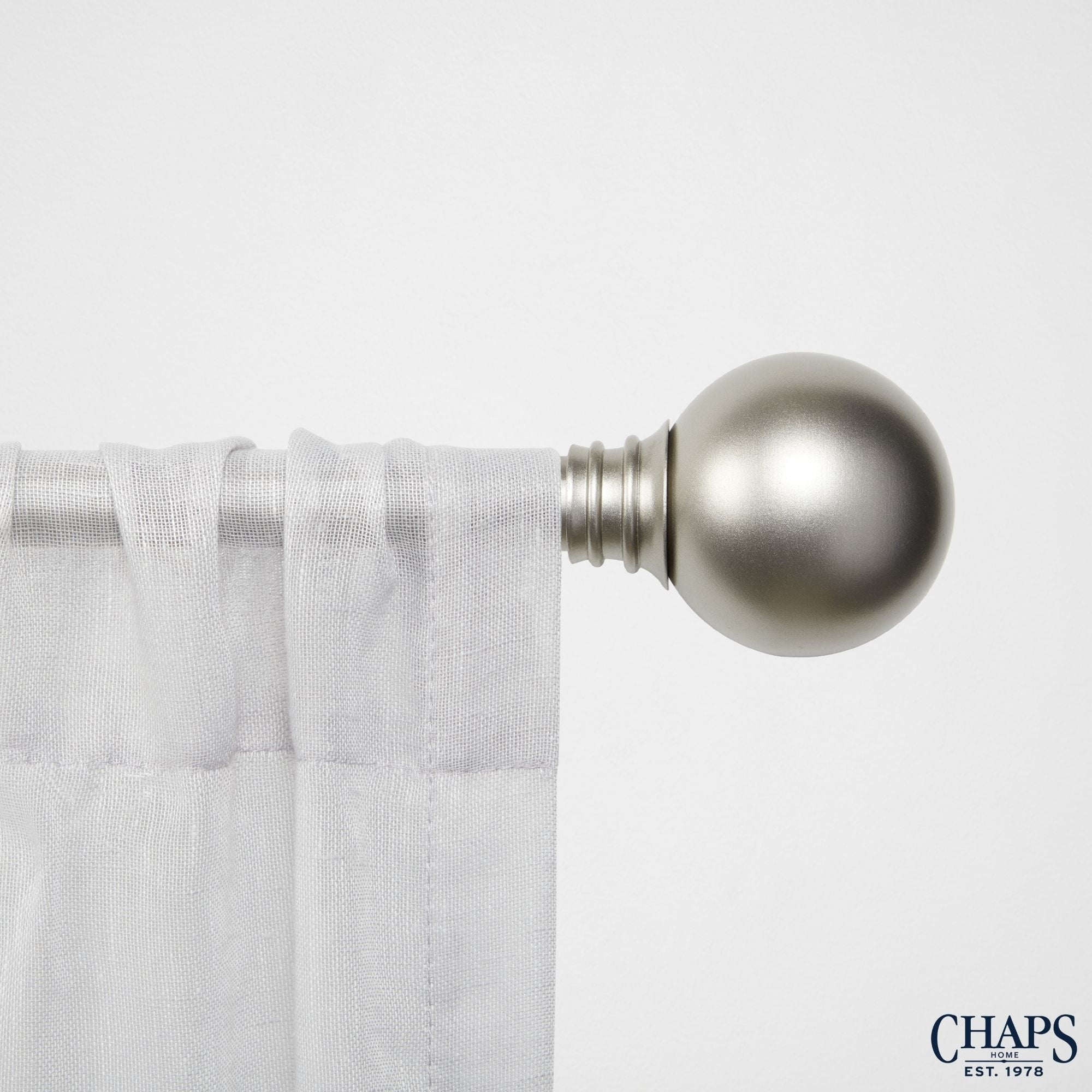 36-72 Chaps Rings 1 Window Curtain Rod and Finial Set Gold