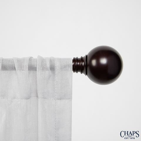 """Chaps Home Ball 3/4"""" Diameter Window Curtain Rod and Finial Set"""