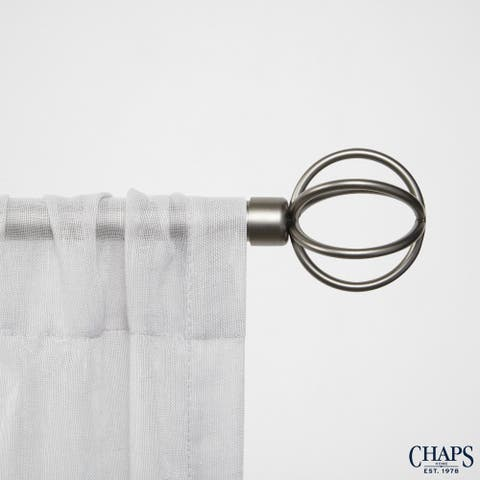 "Chaps Home Cage 3/4"" Diameter Window Curtain Rod and Finial Set"