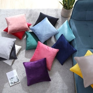 Brielle Home Super Soft Velvet Throw Pillow Collection