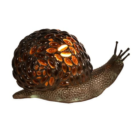 Jewel Snail Tiffany Accent Table Lamp