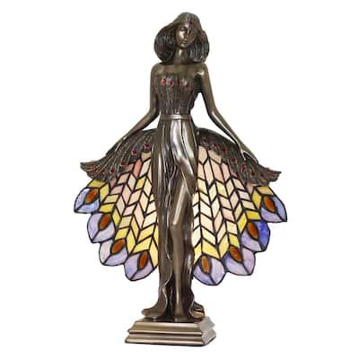 Luna Sculpture Tiffany Accent Lamp
