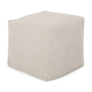 Camrose Contemporary Fabric Pouf by Christopher Knight Home