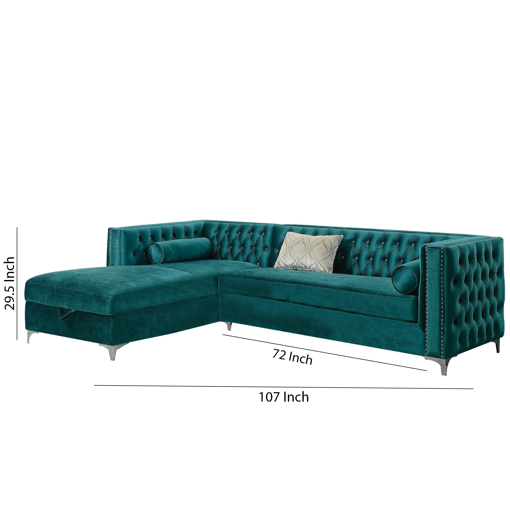 2 Piece Sectional Sofa With Tufted