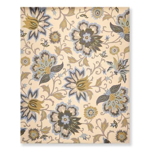Persian Oriental Area Rug Hand Tufted Wool Arts & Crafts Loop Pile (8'x10') - 8' x 10'