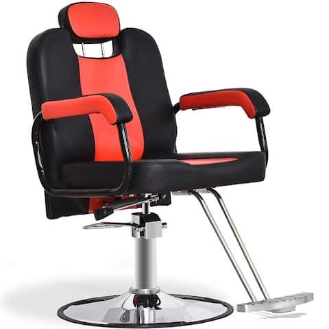 BarberPub Reclining Hydraulic Barber Chair Salon Styling Beauty Spa Shampoo 8241