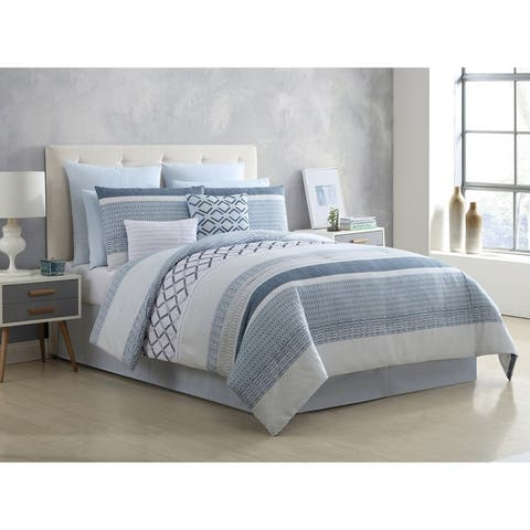 VCNY Home Grayson 10-Piece Geometric Comforter Set