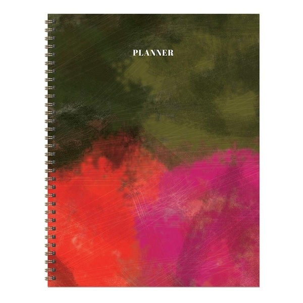 Painted Bold Undated Large Weekly Monthly Planner. Opens flyout.