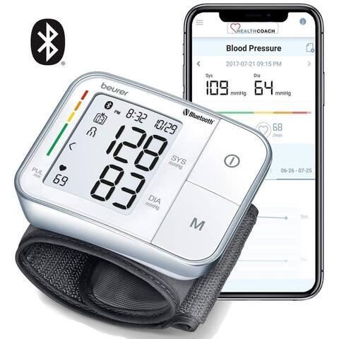 Beurer Bluetooth Smart, Wireless & Automatic Wrist Blood Pressure Monitor, BC57