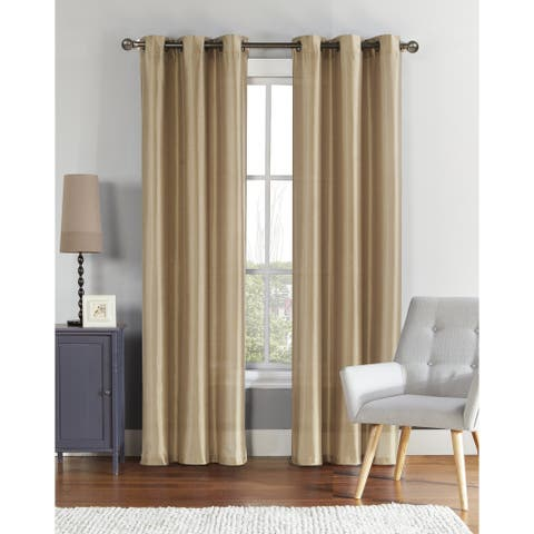 VCNY Brenton Faux Silk Lined & Interlined Blackout Panel Pair