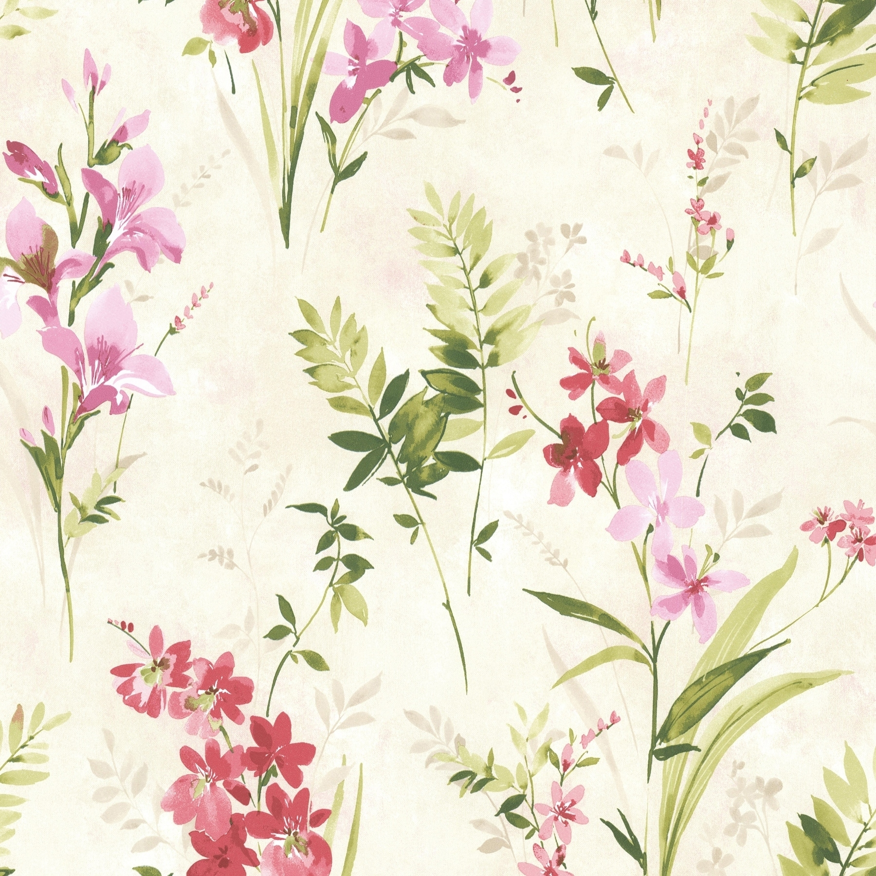 Shop Ayden Watercolor Floral Wallpaper 20 In X 33 Ft About 55