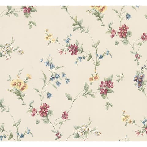 Melville, Floral Trail Wallpaper, 20.5 in x 33 ft = About 56.4 square feet