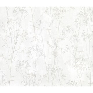 Nava, Floral Silhouette Wallpaper, 20 in x 33 ft = About 55 square feet