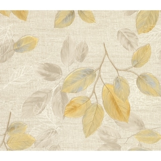 Aldis, Leaf Toss Wallpaper, 21 in x 33 ft = About 57.8 square feet
