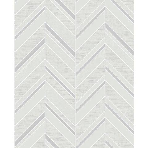 Alegra, Chevron Wallpaper, 20.5 in x 33 ft = About 56.4 square feet