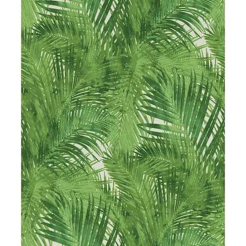Zachary, Palms Wallpaper, 20.5 in x 33 ft = About 56.4 square feet