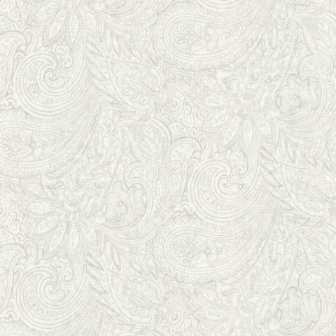 Gottesman, Paisley Wallpaper, 20.5 in x 33 ft = About 56.4 square feet
