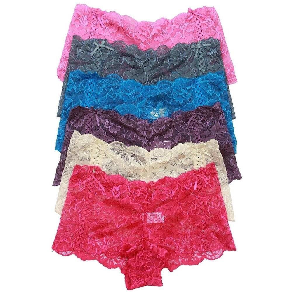 Nylon Polka Dot Lace Flower String Thong Panty S//M//L//XL Pack Lot 1 6 12 Cotton
