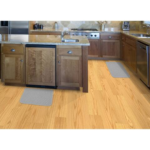 Garland Rug Town Square 2pc Kitchen Rug Set 18 in. x 28 in. Slice & 18 in. x 28 in. Mat Silver