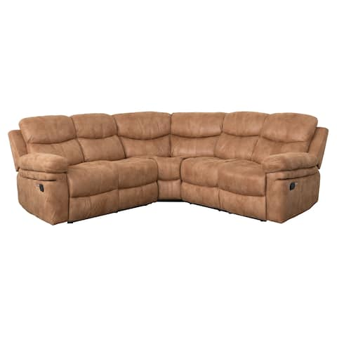 Brooklyn Sectional Sofa with USB Ports by Living Essentials (Sahara Latte)