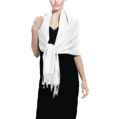 White Pashmina Shawl Scarf