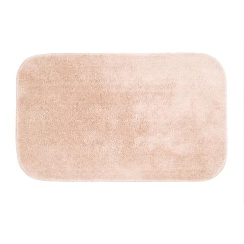 Porch & Den Bergess Plush Nylon Washable Bath Rug
