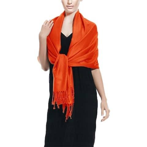 Orange Pashmina Wrap