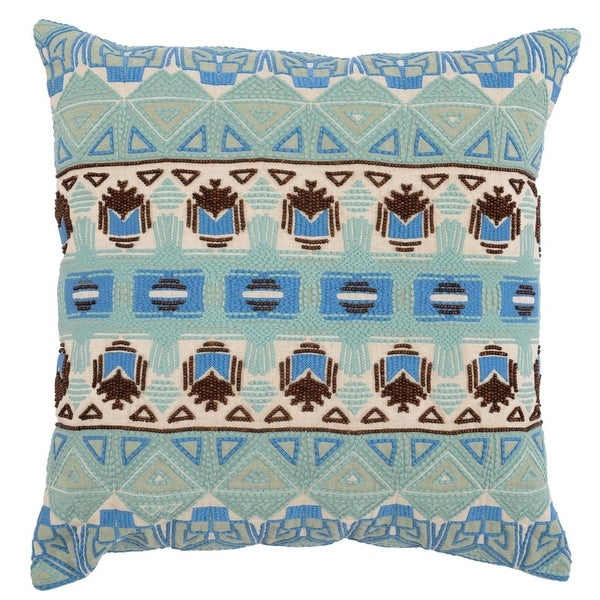Kosas Home Alex Embroidered and Beaded 22-inch Throw Pillow