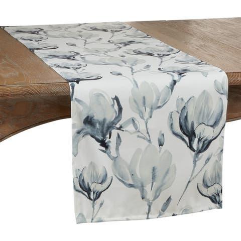 Watercolor Floral Design Table Runner